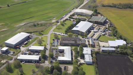 Grove Business Park from the air