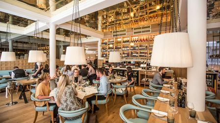 Caffe Grande, owned by Piccolino, offers fabulous Italian food in a chic contemporary setting in the