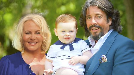 Jackie and Laurence Llewelyn-Bowen with grandson Albion Rex (c) Steve Thorp