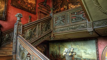 The Grand Staircase in Ham House - Surrey