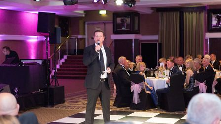 Lee Sharpe talks to the guests