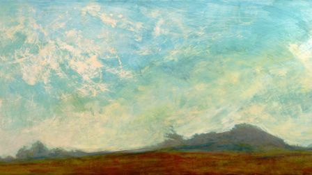 Bright and Hazy (ink and gesso on board) by Alex McIntyre