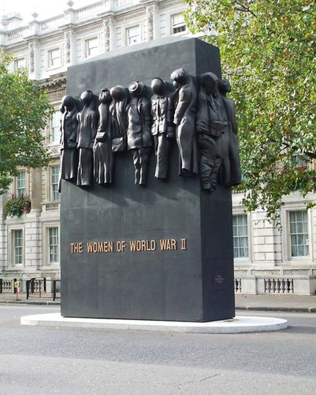 John W Mills' Women at War sculpture at the Cenotaph in Whitehall