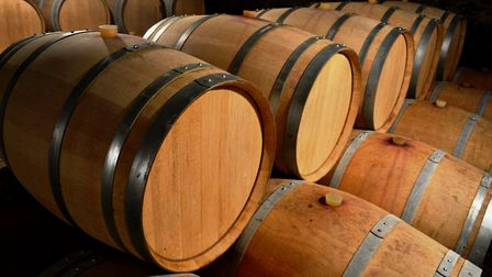 Future vintages being aged in barrels (Photo: Matthew Williams)