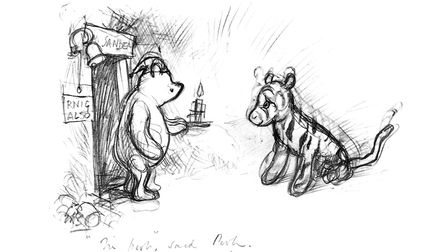 Pooh with Tigger