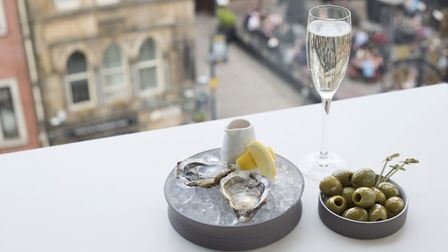 Oysters and Olives at Harvey Nichols