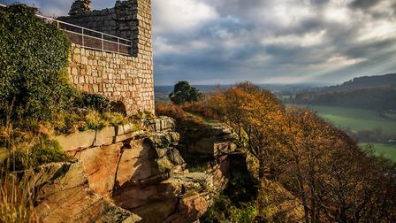 Beeston Castle looking beautiful in the autumn