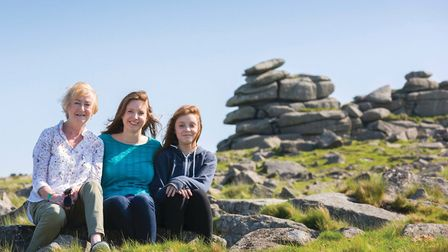 Three generations of testers, Tara (centre) with her mum Anne and daughter Anna on Dartmoor