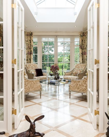 The marble floored orangery was added a decade ago (photo: Strutt and Parker)