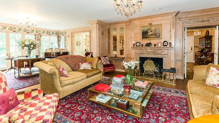 The drawing room panelling was created by Roger Board Designs, also responsible for joinery in royal