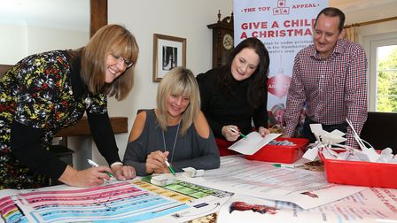 Wendy Morris, Liz Pickard, Dee Drake and Chris Drake start to co-ordinate the activities