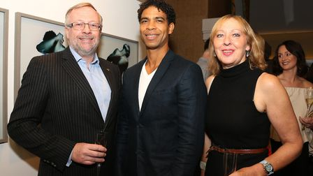 Peter Shrigley, Carlos Acosta CBE and Louise Taylor