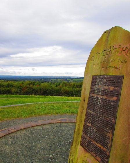 The plaque on top of Pale Hill