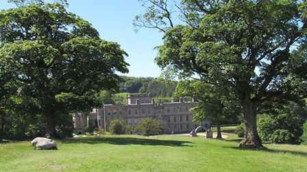 Lyme Hall, seen from the path leading to The Cage.