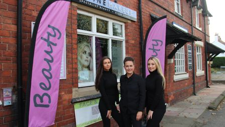 The team at Divine Makeup: Olivia, Emma and Daisy