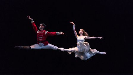 Mathias Dingman as The Prince and Laura Day as Clara in The Nutcracker (c) Bill Cooper