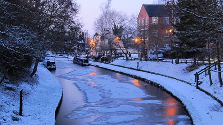 1st Place - Winter evening in Audlem by Sylvia Davies