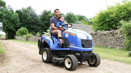 TV presenter and Times food critic Giles Coren with his son Sam