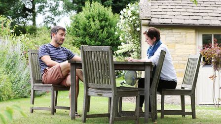 TV presenter and Times food critic Giles Coren with Katie Jarvis