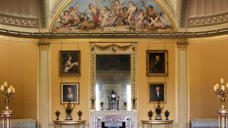 The dome in the Yellow Drawing Room at Wimpole Hall. The room was created by John Soane in 1793 (pho