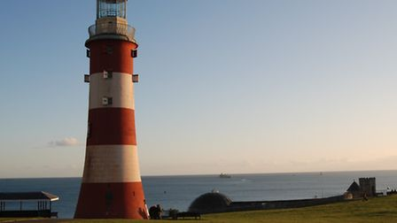 The view of Plymouth Hoe near Rhodes on the Dome
