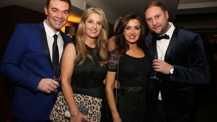 Darren and Louise Proctor with Claire and Dan Hampson
