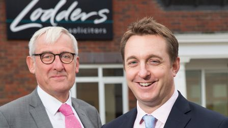 Paul Mourton (right) is law firm Lodders new managing partner and picks up the reins from Rod Bird (