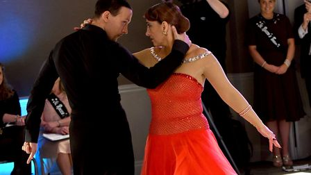 St. Rocco's staff member Liliana Ciccarelli and Alex Whyatt perform a smouldering tango