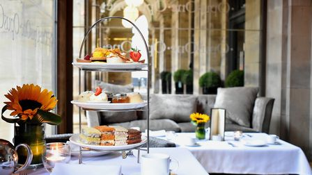Afternoon tea at Opus One, in the Radisson Edwardian Hotel, Peter Street, Manchester