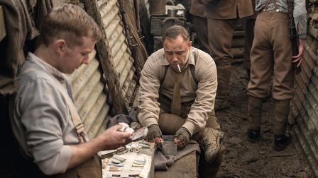 Stephen Graham in the trenches in Journey's End. Photo by Nick Wall