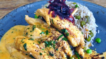Spiced chicken with jewelled vegetable rice (photo: Brian Arnopp Images)