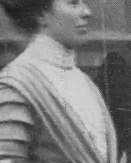 Miss Agnes Bales who was imprisoned for placarding pillar-boxes in Cheltenham 1913