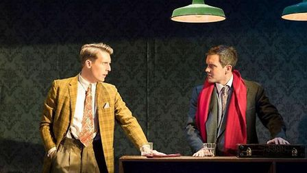 Christopher Harper as Charles Bruno and Jack Ashton as Guy Haines Credit: Helen Maybanks