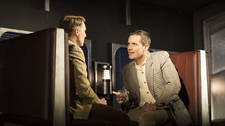 Christopher Harper as Charles Bruno and Jack Ashton as Guy Haines in Strangers on a Train Credit: H