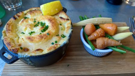 Fish pie at Dylan's in Llandudno