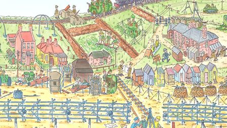 A detail from The Whitstable Tapestry