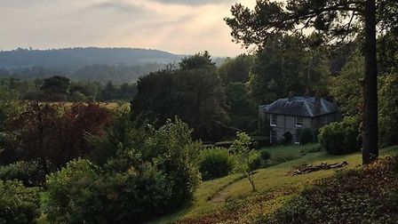 The view from George Meredith's chalet in the garden of Flint Cottage. Photo by Hayley Cooper