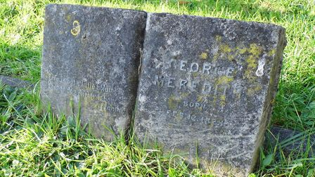 Merediths grave in Dorking Cemetery
