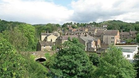 The view across the rooftops at Bollington