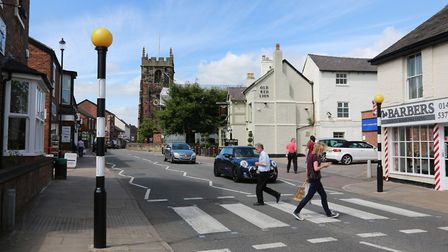 London Road and St Lukes Church in Holmes Chapel