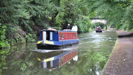 Rush hour on the Bridgewater Canal by Peter Beck