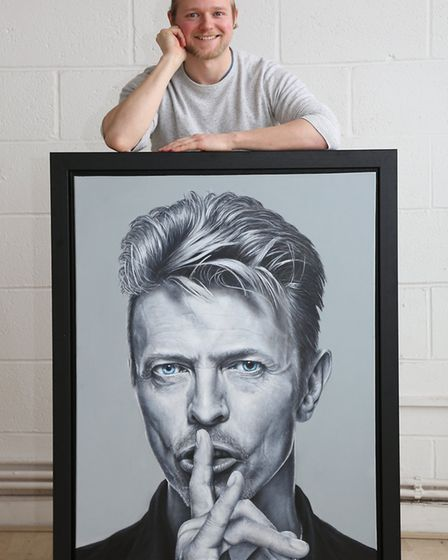 Joe Forrest with his David Bowie