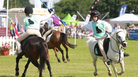 All action pony club games in the main ring here featuring the East Cheshire black cats