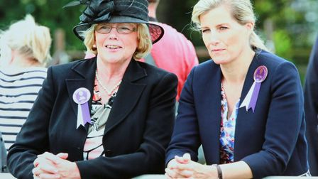 Christine Newton, Chair of Cheshire Show Light Horse Section, with Sophie *** Local Caption *** Chri