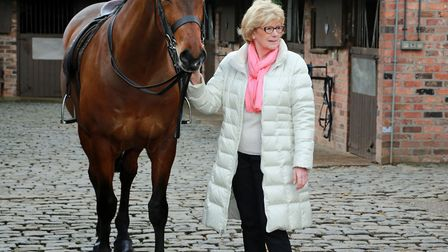 Christine Newton, Chair of Cheshire Show Light Horse Section, with Danielle Heath's horse, Bershan D