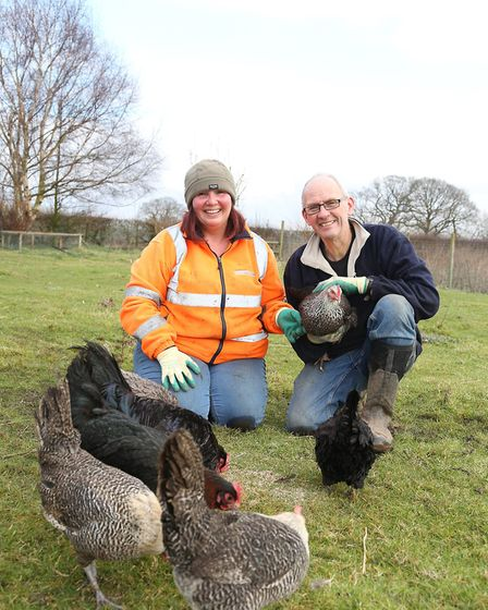 Michele Scott and Jem Rowland of Garden Poultry