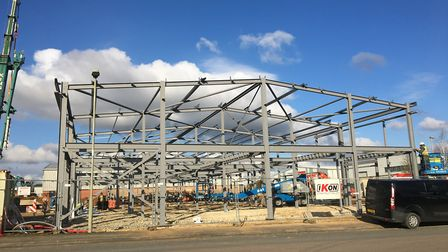 Construction underway at Glenmore Business Park in Kidlington