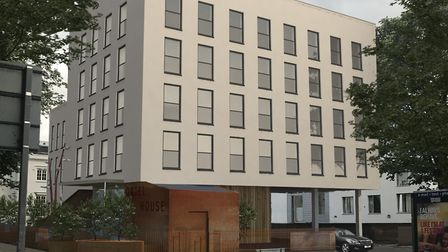 CGI of the completed development on Oriel Road