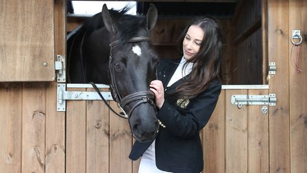 Sophie Murgatroyd with horse, Lostock Balboa