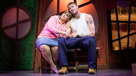 Jodie Prenger and Andrew 'Freddie' Flintoff, Fat Friends the Musical